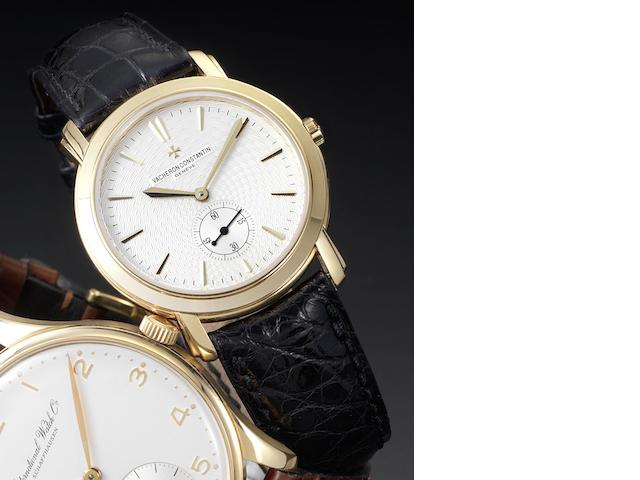 Vacheron & Constantin. A fine 18ct gold manual wind wristwatch Malte Grande Classique, Ref No: 81000, Movement No: 925279, Case No: 748500, sold 15th June 2001