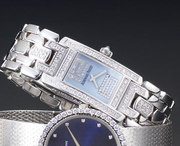 Audemars Piguet. A lady's 18ct white gold diamond set quartz wristwatchPromesse, Case Number E47573, Recent