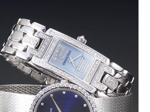 Audemars Piguet. A lady's 18ct white gold diamond set quartz wristwatch Promesse, Case Number E47573, Recent