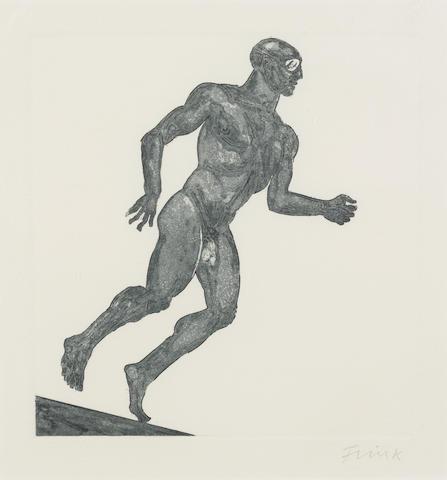 Dame Elizabeth Frink (1930-1993) 'Running Man', 1985