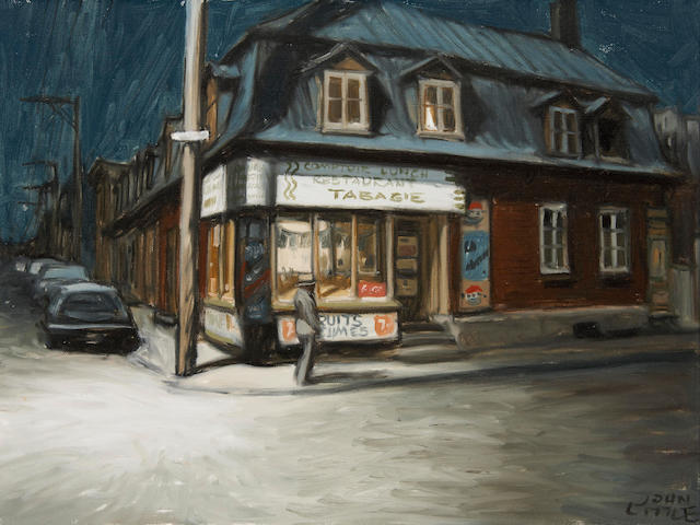 John Geoffrey Caruthers Little, ARCA (Canadian, born 1928) CAFÉ DU COIN