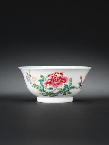A famille rose bowl Yongzheng six-character mark and of the period