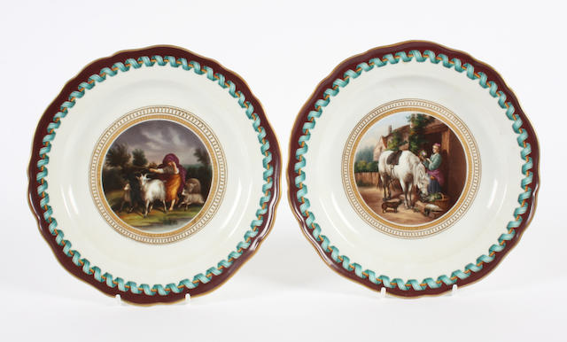 A pair of Meissen plates Circa 1860-80.