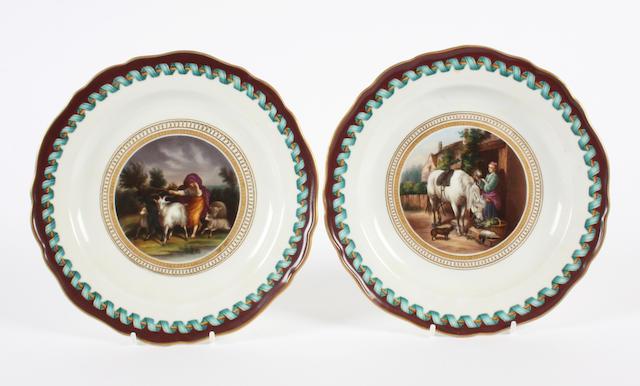 A pair of Meissen plates Circa 1860-80.