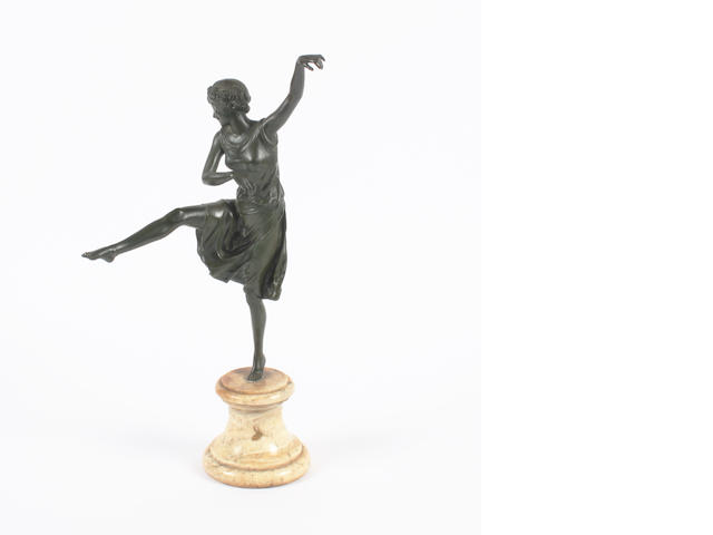 Paul Philippe  A patinated bronze Figure of a dancer, circa 1925