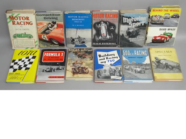 A good quantity of motor racing related titles,