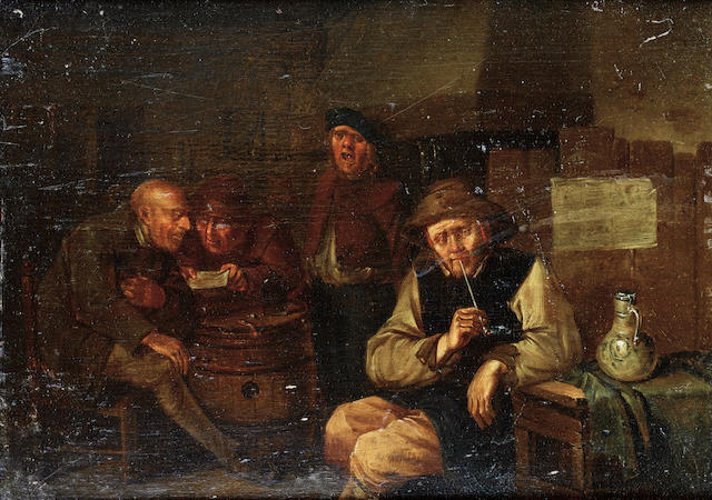 Egbert van Heemskerck the Younger (Haarlem circa 1676-1744 London) Topers in a tavern interior