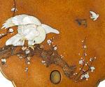A gold lacquer tachi-kake (sword stand) Edo Period, 19th century
