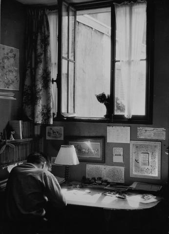 Willy Ronis (French, born 1910) Vincent et le chat, Paris, 1955 17.2 x 24cm (6 3/4 x 9 7/16in).