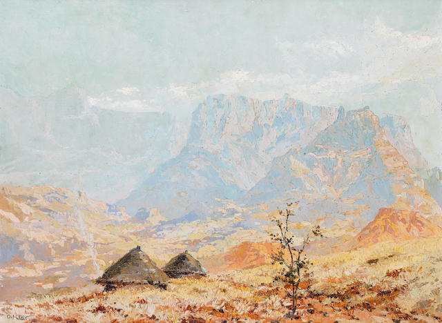 Otto Klar (South African, 1908-1994) South African landscape
