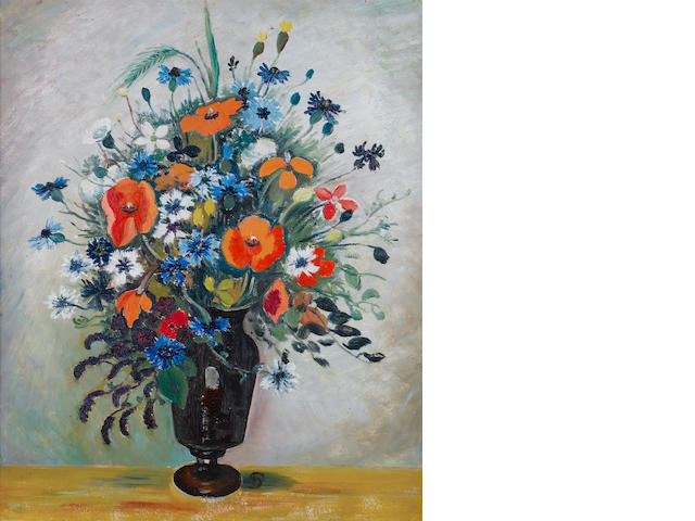 Pranas Domsaitis (South African, 1880-1965) A vase of spring flowers