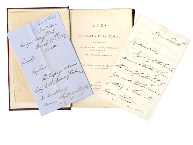 CRIMEA, SIEGE of KARS LAKE (ATWELL) Kars and Our Captivity in Russia: with letters from Gen. Sir W.F. Williams.. of Kars