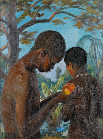 George Mnyalaza Milwa Pemba (South African, 1912-2001) Garden of Eden