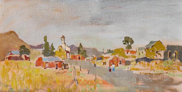 Gregoire Johannes Boonzaier (South African, 1909-2005) 'Lokasie Kerk'