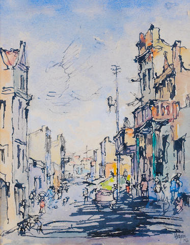 Gregoire Johannes Boonzaier (South African, 1909-2005) District Six, 1966