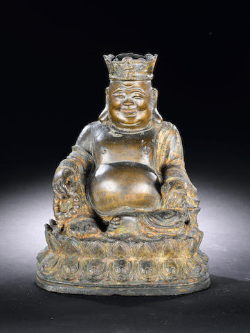 A bronze figure of Budai 16th/17th century