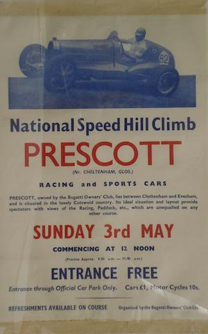 Prescott National Speed Hill Climb poster, 1955,