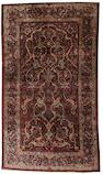 A Kashan silk prayer rug Central Persia, 7 ft 3 in x 4 ft 5 in (221 x 134 cm)
