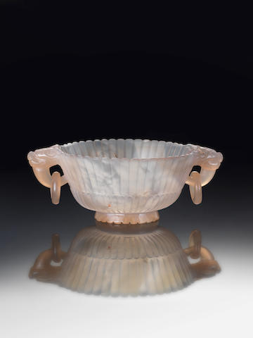 An agate 'chrysanthemum' cup 18th/19th century