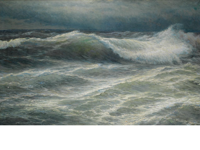 W Mahokian - 'The Wave' oil on canvas, framed