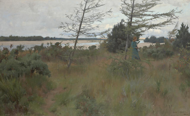 Alexander Mann (British, 1853-1908) On the Findhorn