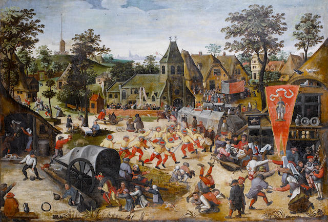 Follower of Pieter Brueghel the Younger (Antwerp 1564-1638) A village kermesse