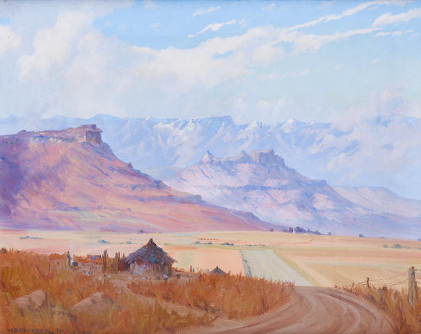 Willem Hermanus Coetzer (South African, 1900-1983) Malutis from near Ficksburg