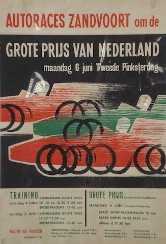 A Zandvoort Grand Prix poster
