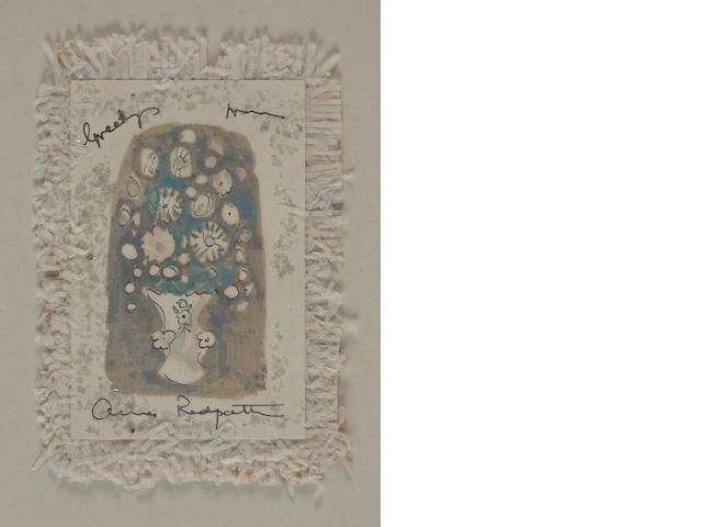 Anne Redpath, OBE RSA ARA LLD ARWS ROI RBA (British, 1895-1965) Bouquet (greeting card)