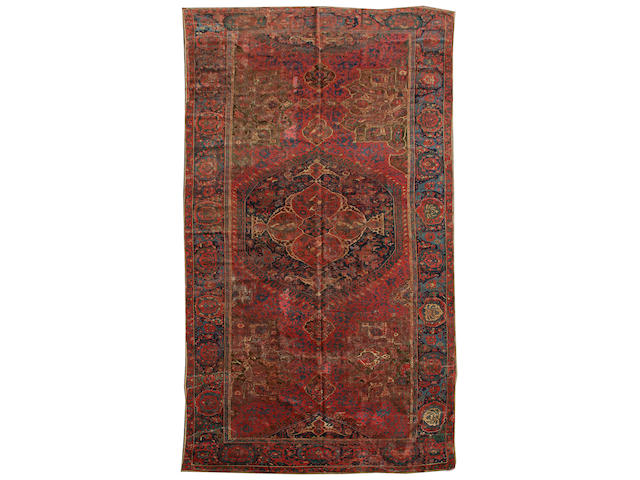 A 17th century Ushak carpet West Anatolia, 20 ft x 10 ft 2 in (610 x 308 cm)some damage and restoration