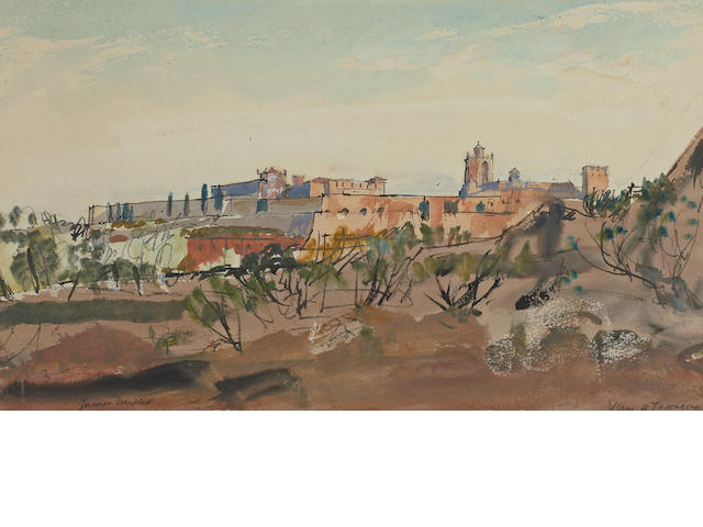 "James Miller, RSA RSW (British, 1893-1987) ""View of Tarragona"""