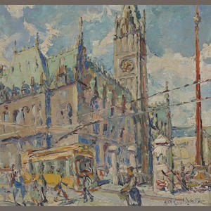 Alan Ian Ronald, RSW (British, 1899-1967) 'The Rathaus Hamburg'
