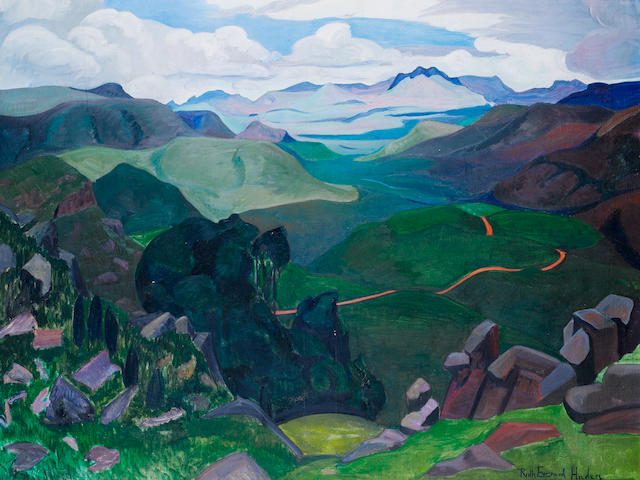 Ruth Everard Haden (South African, 1904-1992) 'Serenitas fulgens': The Komati/Vaalwater River Valley, Bonnefoi