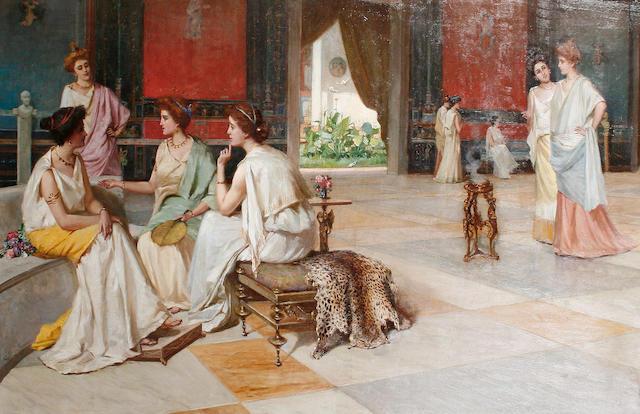 Guglielmo Zocchi (Italian, born 1874) Intrigue