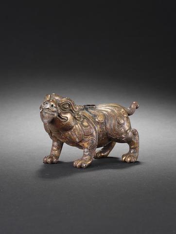 A gilt bronze chimera water dropper 15/16th century