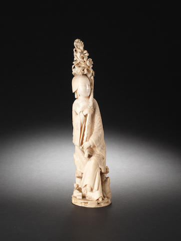 An ivory figure of a lady 19th century