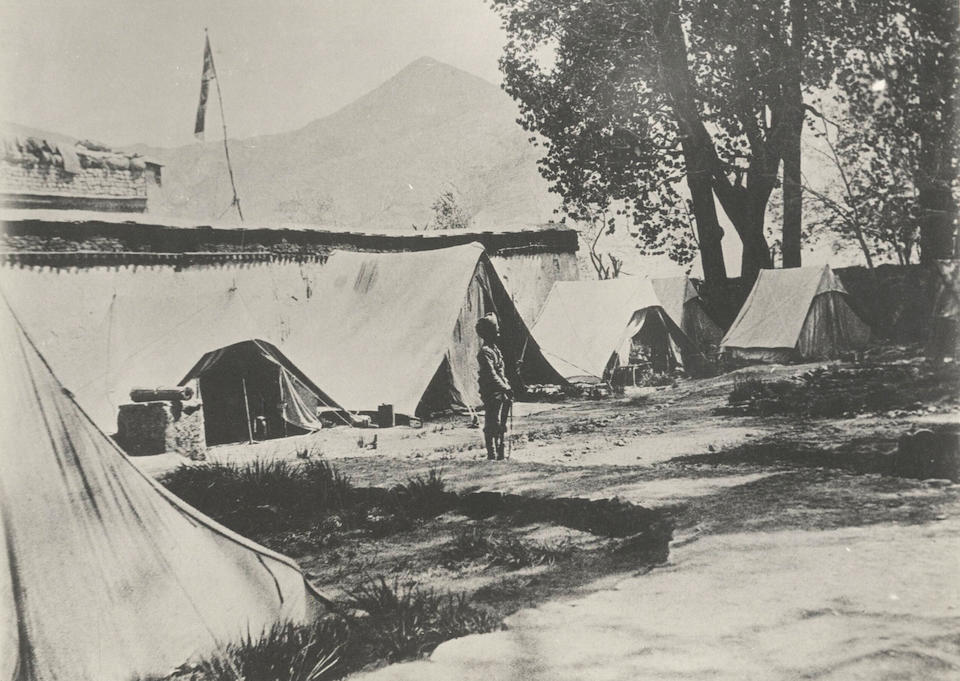 TIBET WHITE (JOHN CLAUDE) An important album of images taken by White during Younghusband's Tibet Mission of 1903-1904