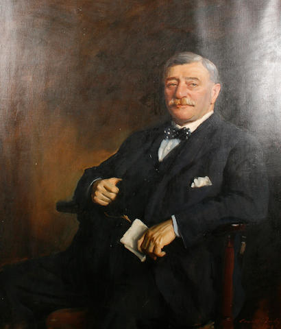 Sir Oswald Birley (British, 1880-1952) Portrait of Sir John E. Mitchell, chairman of Mitchells & Butlers brewery
