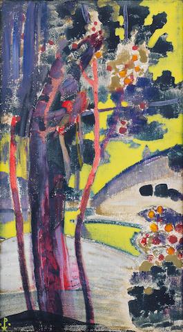Nikolai Konstantinovich Roerich (Russian, 1874-1947) Fruit trees