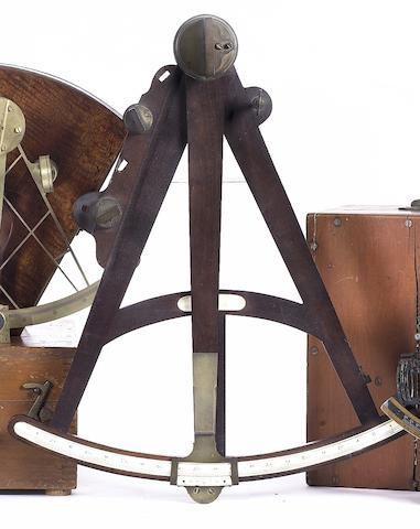 An early 19th century 15in (38cm) radius mahogany octant.