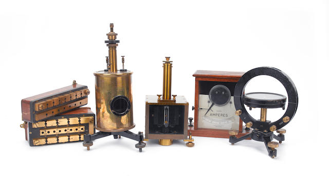 Resistance and Magnetism:  Six scientific measuring instruments, early 20th century,