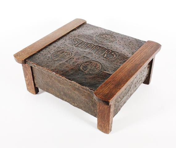 Liberty oak & copper box
