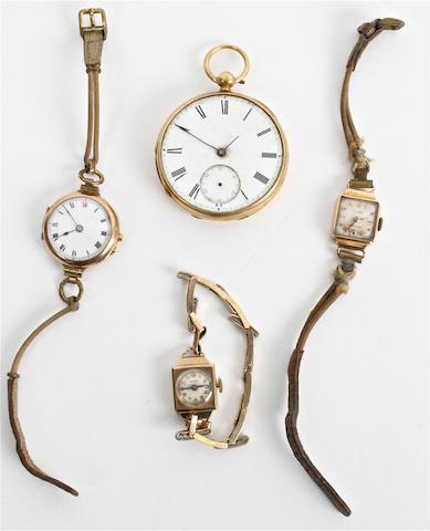 An 18 carat gold open faced pocket watch