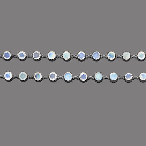 A moonstone necklace