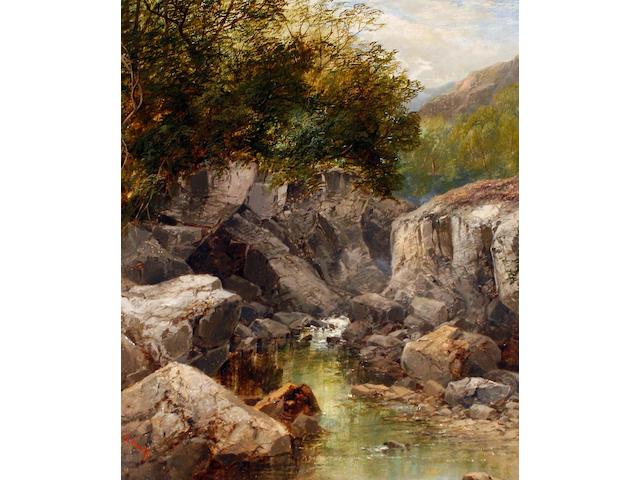 John Brandon Smith (British, 1848-1884) A sheltered pool