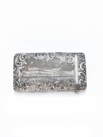 A silver cherrot case with L & NW Railway inscription. Presented to T.C. Mills