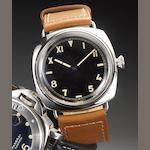 Panerai. A fine stainless steel manual wind military style wristwatch Radiomir 1936, Number 1536, Movement number 533509,  Sold by Wempe 2nd November 2007