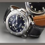 Officine Panerai. A rare large cushion shaped automatic stainless steel divers wristwatch Luminor Submersible, PAM 24, Sold 25th May 2001