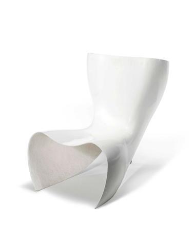Marc Newson for Cappellini, a pair of 'Felt' Chair, designed  1994 reinforced fibreglass and aluminium