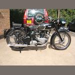 1947 Triumph 350cc 3T Frame no. TC 5207 Engine no. 3T84521